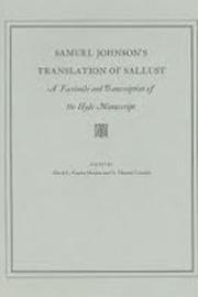 Samuel Johnson's Translation of Sallust